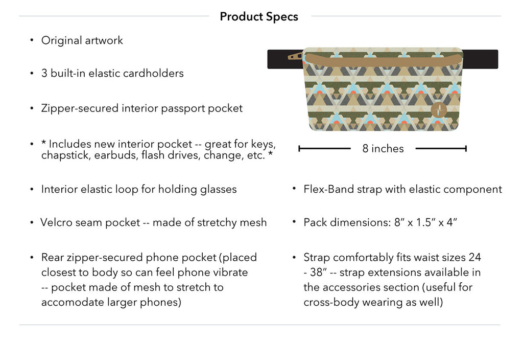 Savanna Jaunt Fanny Pack Product Specs
