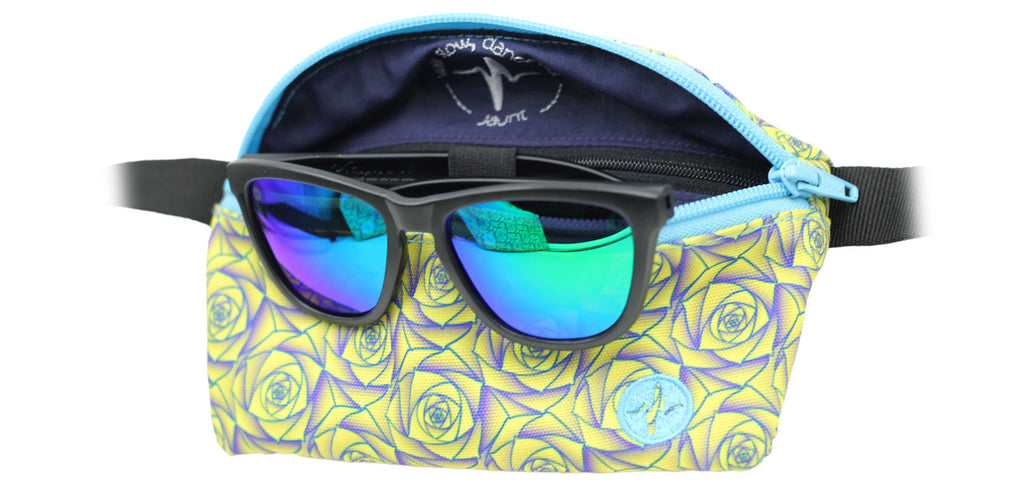 Polarized Sunglasses (Matte Black/Blue-Green)