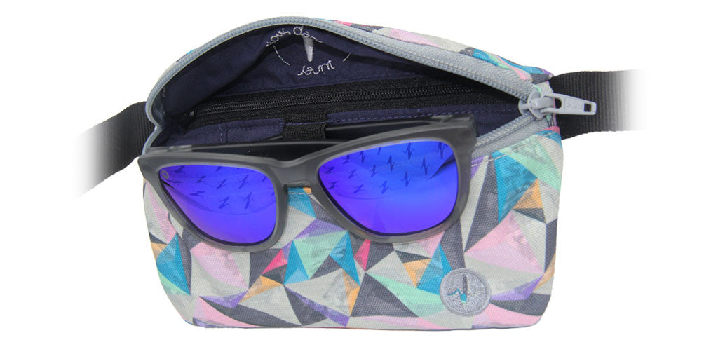 Polarized Sunglasses (Frosted Gray/Purple)