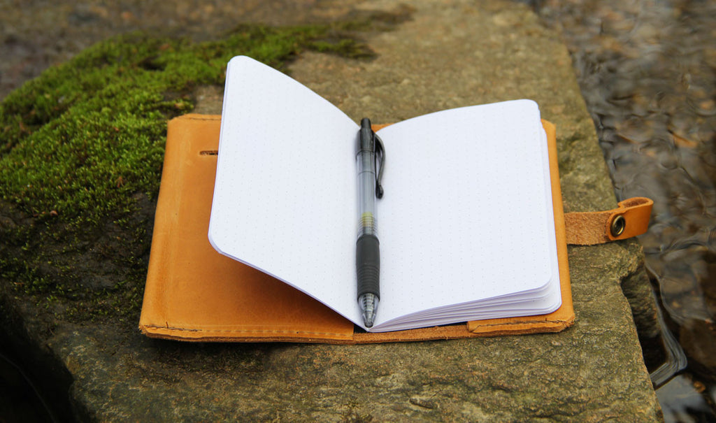 Leather Snap Notebook Cover