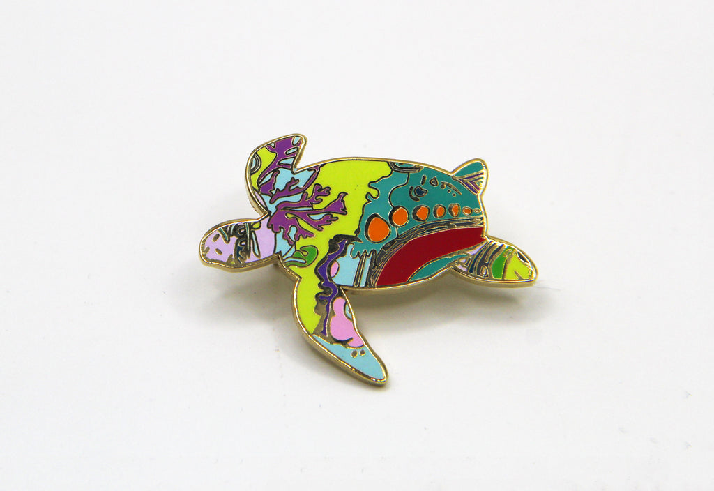 Sea Turtle (in the Coral Reef) Pin