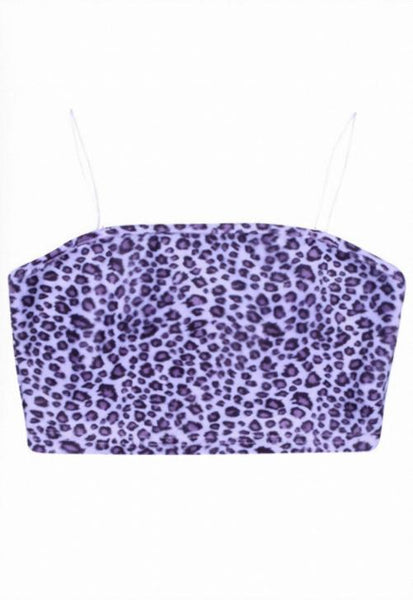 Purple Leopard Crop Cami
