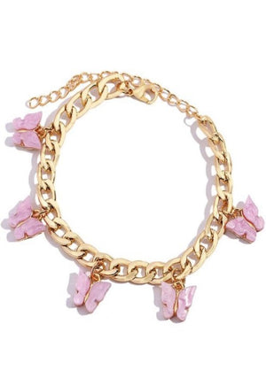 Load image into Gallery viewer, Gold Butterfly Charm Bracelet