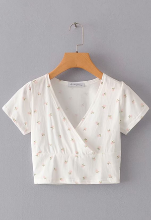 Load image into Gallery viewer, Floral Surplice Top
