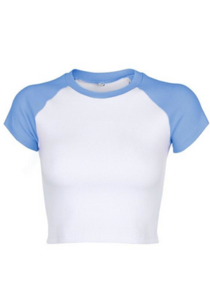 Load image into Gallery viewer, Ribbed Raglan Tee
