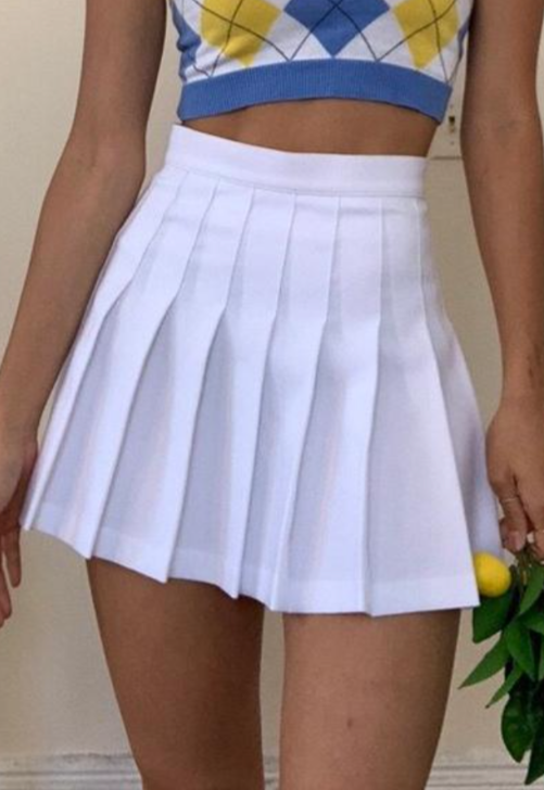 High Waisted Tennis Skirt