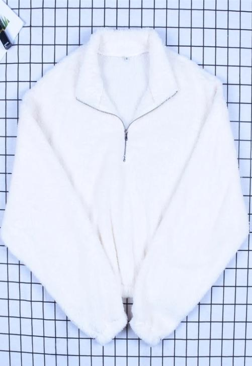 Teddy Half-Zip Sweatshirt