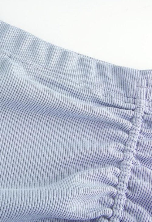Periwinkle Blue Rouched Skirt