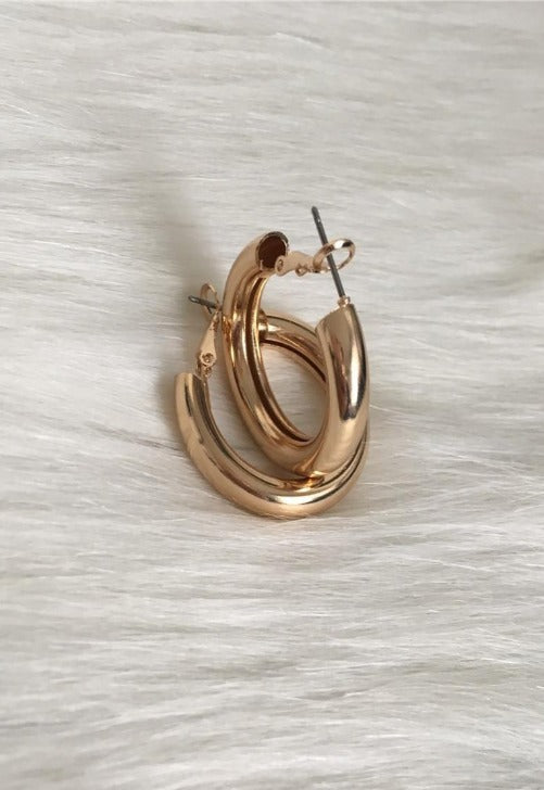 Load image into Gallery viewer, Gold Cuff Hoops