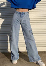 High-Rise Cargo Jeans