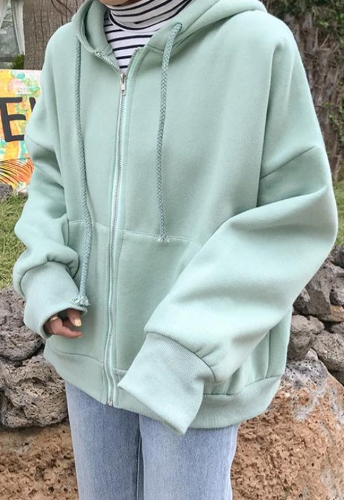 Oversized Light Green Jacket