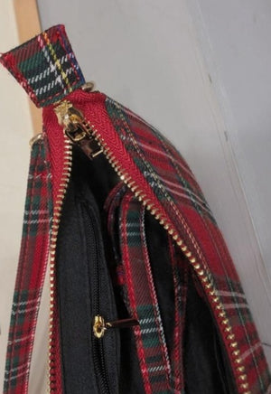 Load image into Gallery viewer, Red Plaid Shoulder Bag