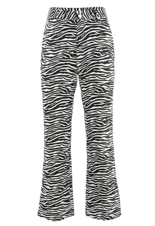 High Waisted Zebra Pants
