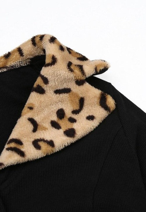 Load image into Gallery viewer, Leopard Collar Cardigan
