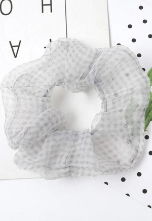 Plaid Print Scrunchie