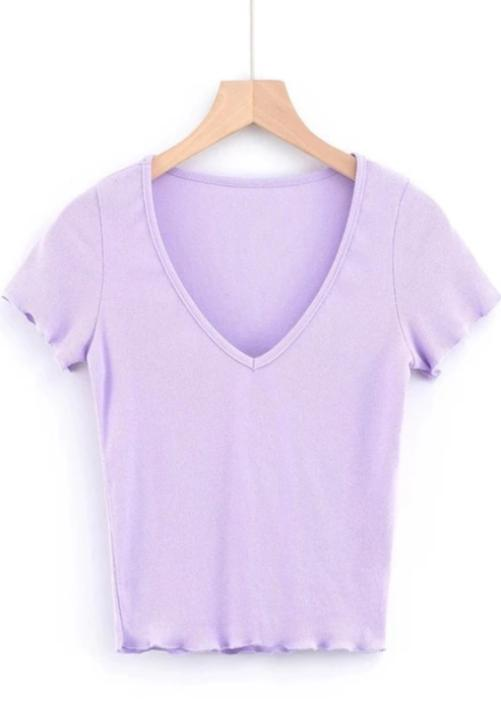 Lilac Lettuce Trim Top