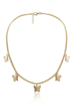 Gold Butterfly Charm Necklace