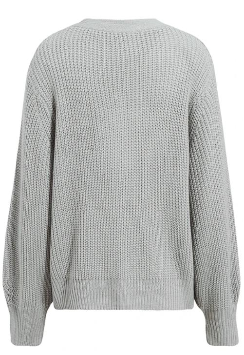 Load image into Gallery viewer, Grey V-Neck Cardigan
