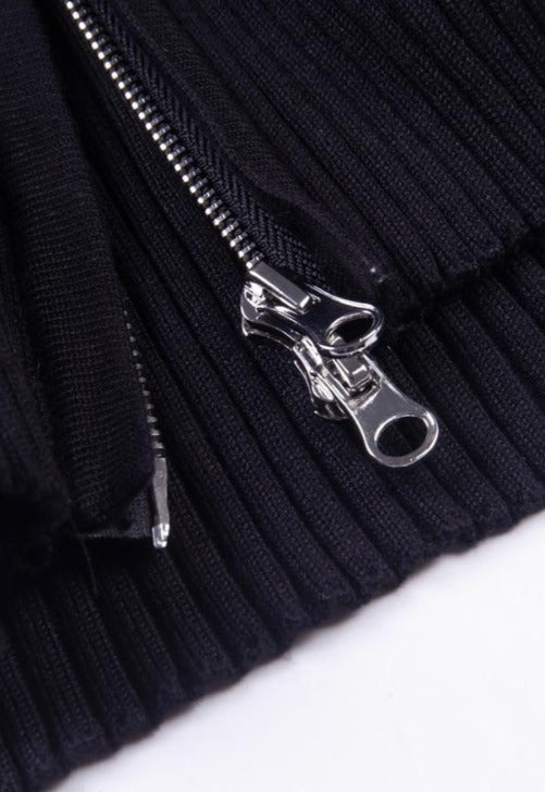 Black Double Zip Jacket