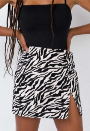 Load image into Gallery viewer, Zebra Print Skirt
