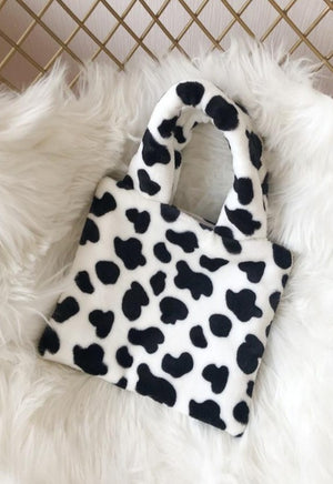 Fur Cow Hand Bag