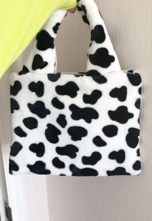 Load image into Gallery viewer, Fur Cow Hand Bag
