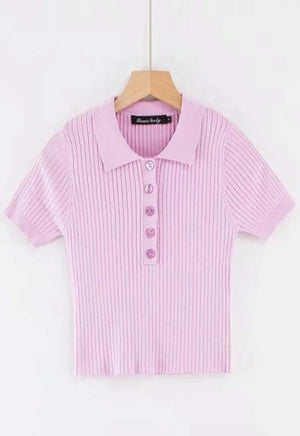 Load image into Gallery viewer, Gwen Ribbed Polo Top