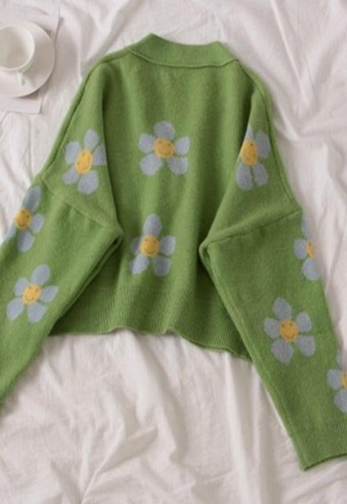 Load image into Gallery viewer, Daisy Flower Cardigan