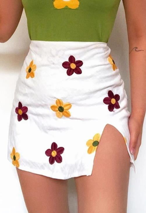 White Poppy Skirt