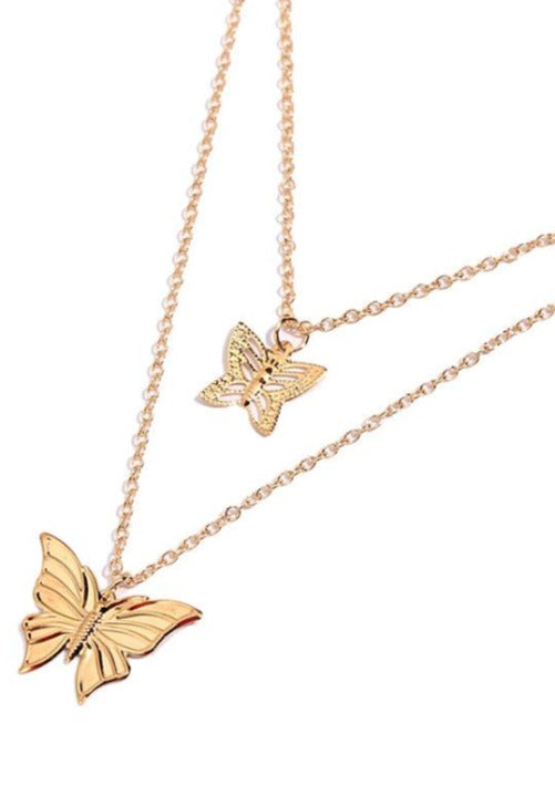 Layered Butterfly Necklace