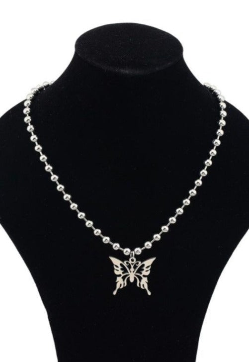 Butterfly Bead Chain Necklace