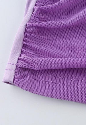Load image into Gallery viewer, Rouched Purple Mesh Cami