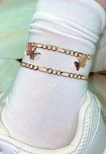 Gold Butterfly Charm Anklet