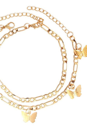 Load image into Gallery viewer, Gold Butterfly Charm Anklet