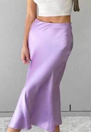 Load image into Gallery viewer, Lavender Silk Skirt