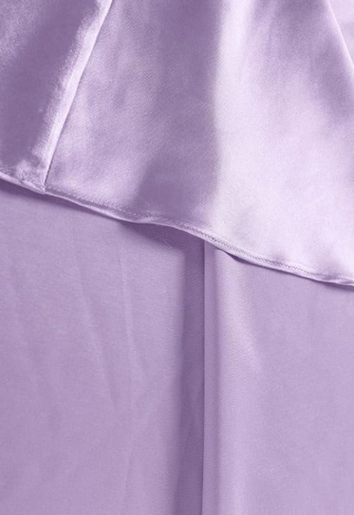 Laden Sie das Bild in den Galerie-Viewer, Lavender Silk Skirt