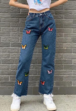 Butterfly Patch Denim Jeans