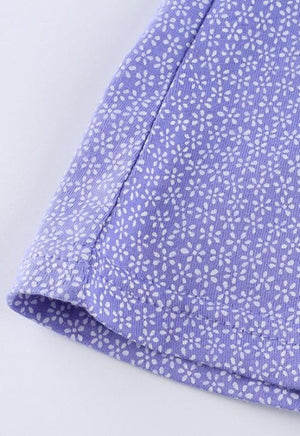 Lavender Daisy Print Dress