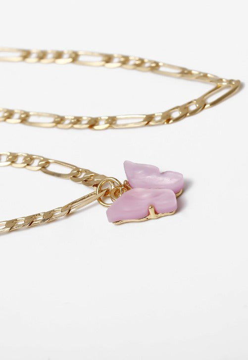 Pink Butterfly Anklet