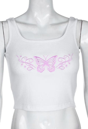 Load image into Gallery viewer, Y2K Pink Butterfly Tank
