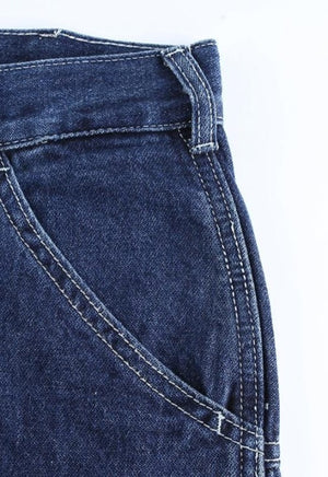 Load image into Gallery viewer, Baggy Dark Wash Jeans
