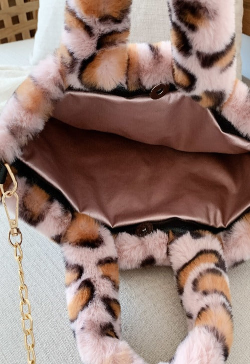Fuzzy Animal Handbag
