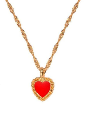Gold Heart Chain Necklace