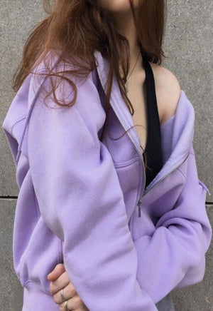 Cozy Lilac Zip-Up