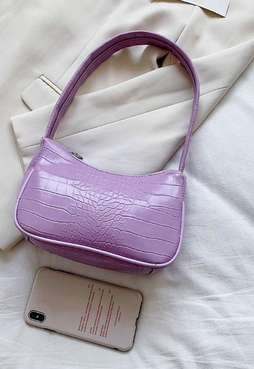 Load image into Gallery viewer, Croc Embossed Baguette Bag
