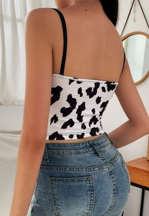 Cow Lace Tank