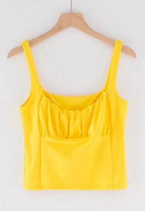 Shirred Cropped Cami