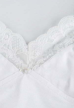 Load image into Gallery viewer, White Lace Daisy Cami