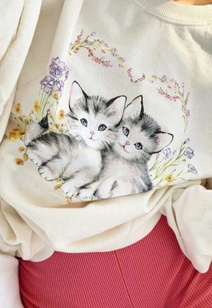 Load image into Gallery viewer, Daisy Kitten Sweatshirt