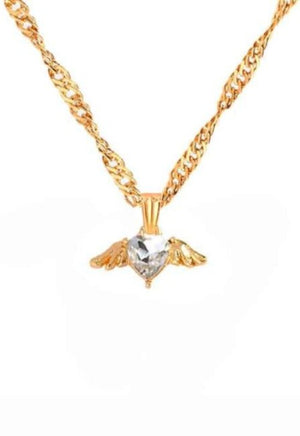 Angel Heart Gold Necklace